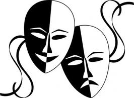 Theatre masks santa clipart - - Theatre Masks Clip Art