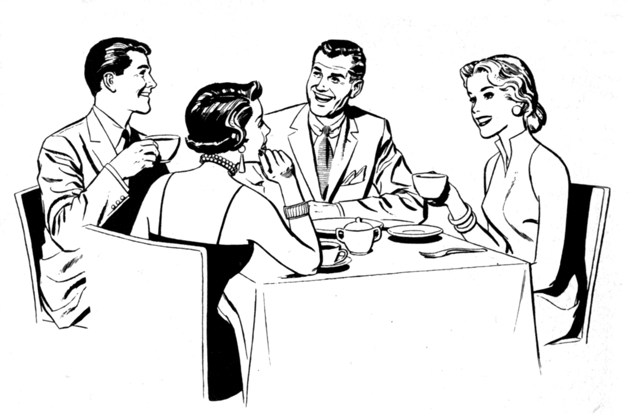 45+ Dinner Party Clip Art | ClipartLook