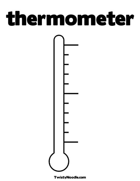 Thermometer clipart etc