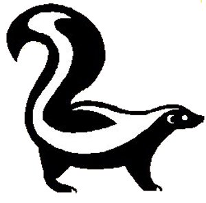 These Are The Little Black And White Sku-These Are The Little Black And White Skunk Free Clip Art Pictures-16