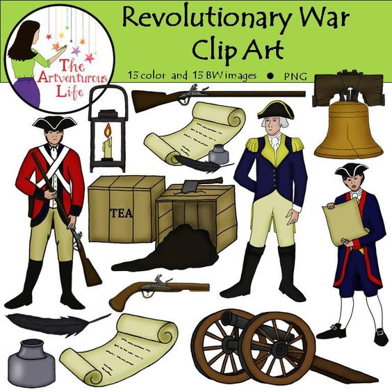 These beautiful clip art images are perf-These beautiful clip art images are perfect for supplementing lessons on the Revolutionary War era in-12
