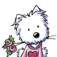 These Westie illustrations ar - Westie Clipart