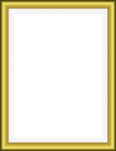 Thick Gold Frame - Gold Frame Clipart