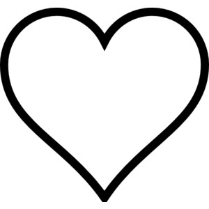Thick Line Heart clip art