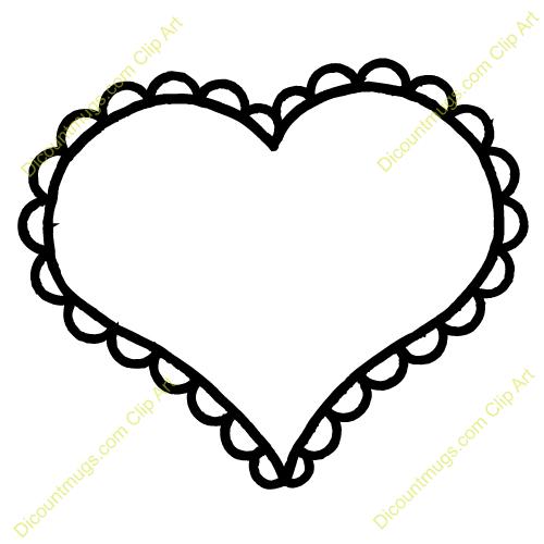 Thin Heart Flower Outline Clipart Clipar-Thin Heart Flower Outline Clipart Cliparthut Free Clipart-15