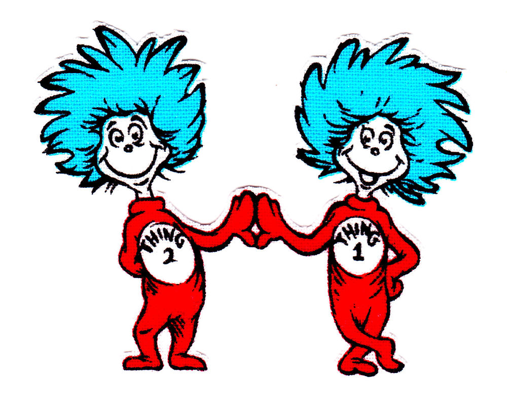 photo about Thing 1 and Thing 2 Printable Iron on Transfer named Detail 1 And Point 2 Printable Iron Upon Shift ✓ Satu Sticker