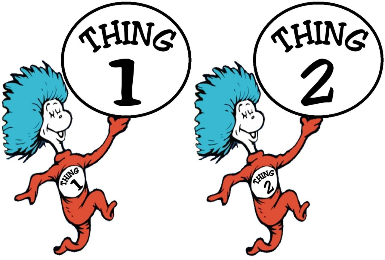 Thing 1 And Thing 2 Iron On Transfer | E-Thing 1 And Thing 2 Iron On Transfer | EBay-14