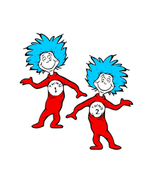 Dr-seuss-clipart-thing-1-and- - Thing Clipart