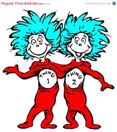 Dr Seuss Thing 1 Clipart #1