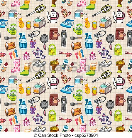 funny home thing seamless pattern - csp5278904