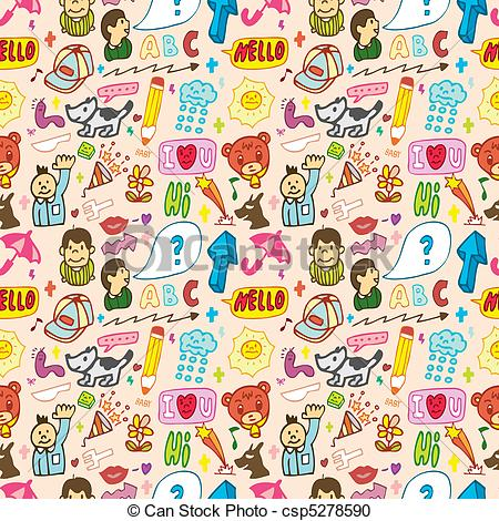 Funny Thing Seamless,pattern( - Thing Clipart