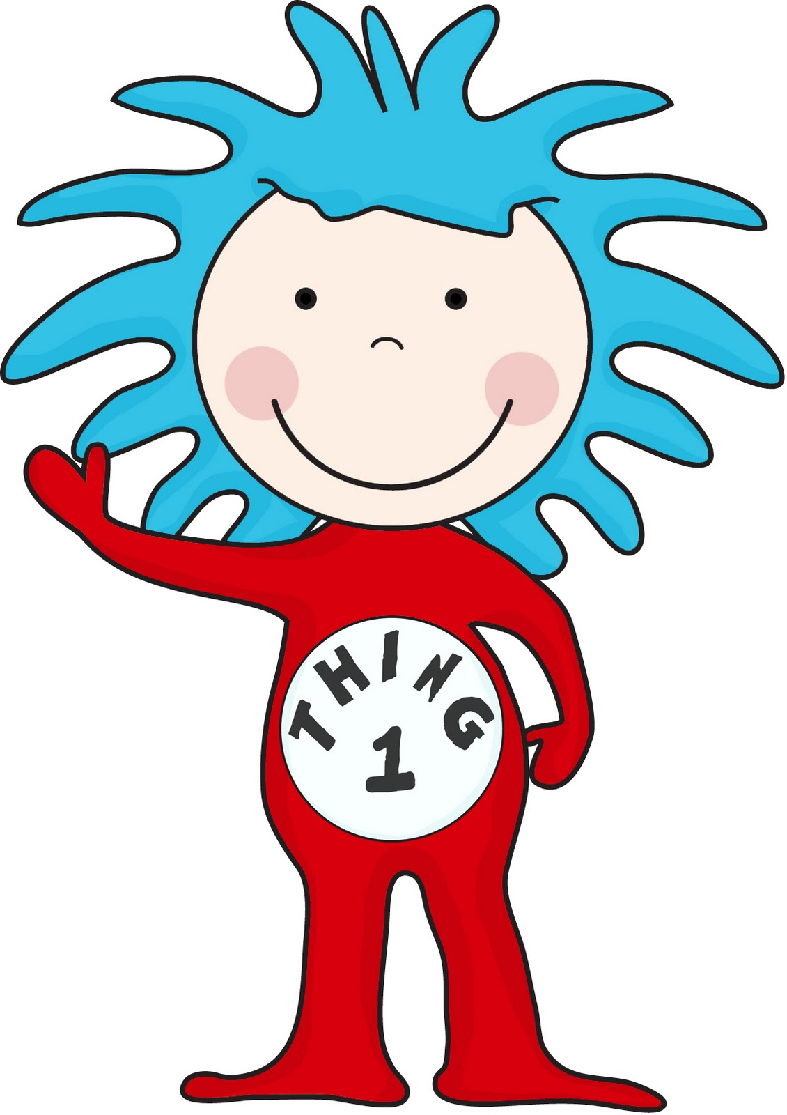 Thing 1 Clipart - Thing Clipart