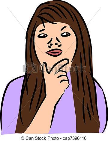 Woman Thinking - csp7396116