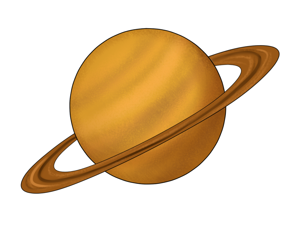 This Beautiful Clip Art Of Planet Saturn-This beautiful clip art of planet Saturn is free for personal or commercial use. Use this clip art on your space or astronomy projects, reference books, ...-16