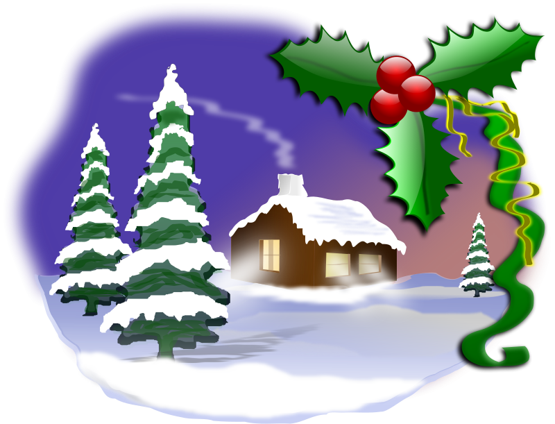 This Christmas Scene Clip Art On Your Next Christmas Projects Like E