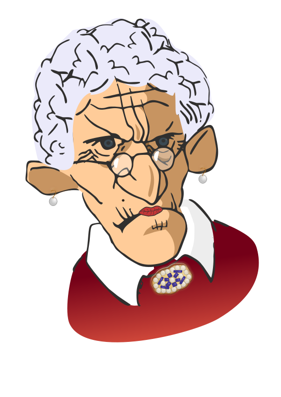 This Clip Art Of An Old Wrinkled And Grumpy Old Woman Is Free For