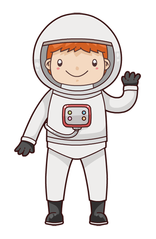 This Cute And Adorable Cartoon Astronaut-This cute and adorable cartoon astronaut clip art is perfect for use on your space projects, storybook illustrations, magazines, school projects, ...-10