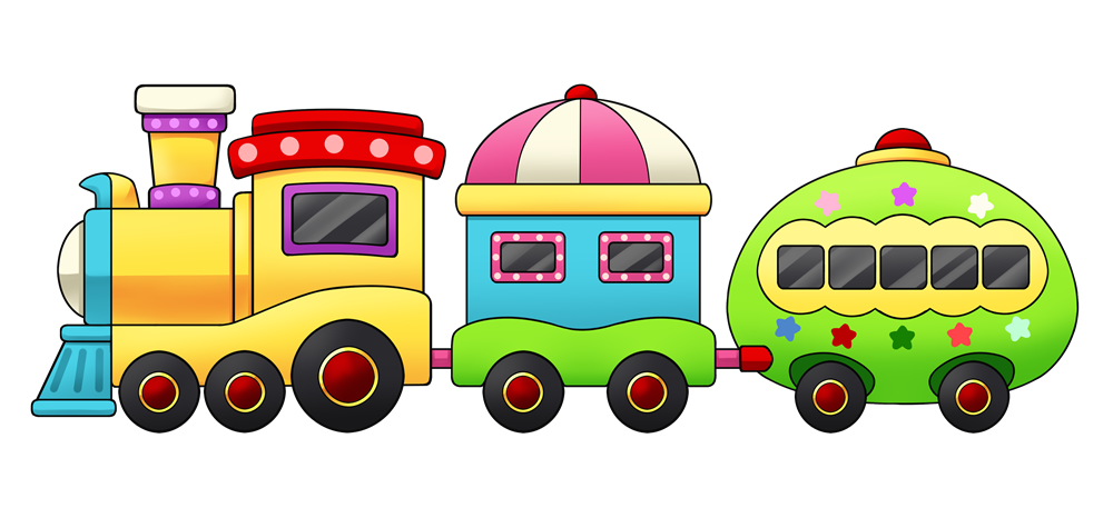 This cute and lovely colorful cartoon tr-This cute and lovely colorful cartoon train clip art is perfect for use on your personal or commercial projects like school projects, circus promotional ...-17