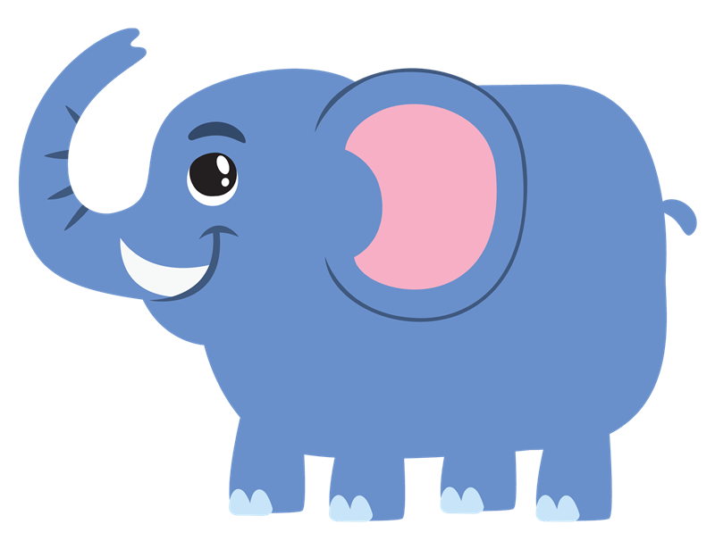 This cute cartoon elephant . - Cute Elephant Clipart