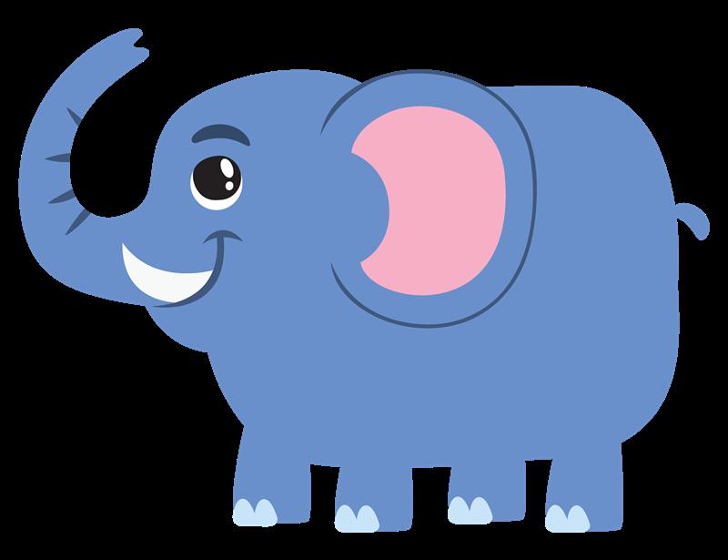 This cute cartoon elephant .