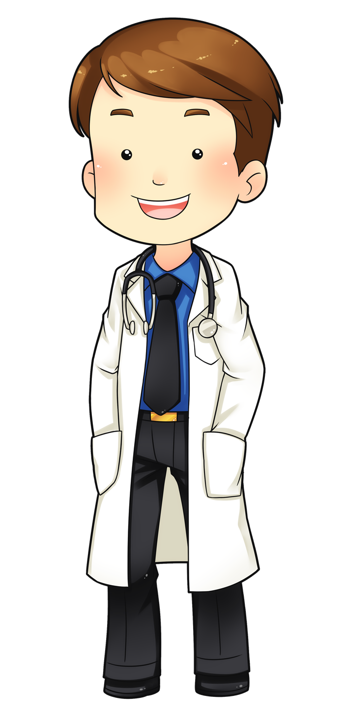 This cute doctor clip art is great for use on whatever project of yours that requires you to show an image of cartoon doctor.