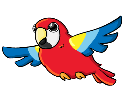 This cute parrot clip art is free for yo-This cute parrot clip art is free for you to use on your personal or commercial projects. Add this clip art to your storybook illustrations, magazines, ...-0
