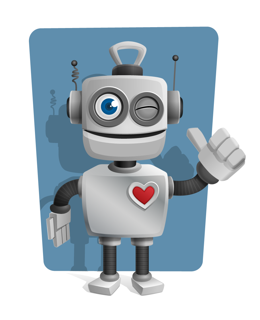 This cute robot with thumbs up sign clip art is perfect for use on your book illustrations, game projects, design projects, presentations, webpages, etc.
