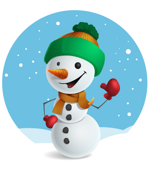 This cute snowman clip art is perfect for use on your Christmas cards, school projects, holiday art and craft projects, websites and blogs, stationery, etc.