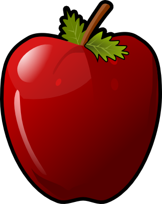 This glossy red apple clip art is licens-This glossy red apple clip art is licensed under a Creative Commons Attribution 3.0 Unported License which means you must give credit to the source of the ...-5