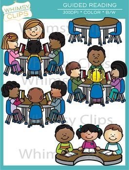This guided reading clip art set contains 10 image files, which includes 5 color images