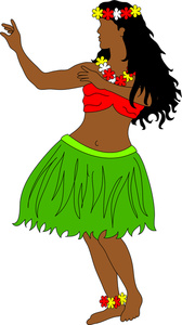 This Hula Dancer Clipart Image