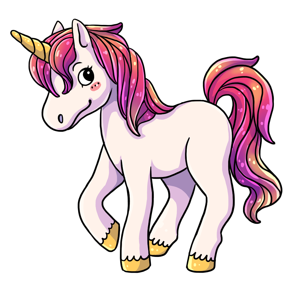 This lovely cartoon unicorn clip art is -This lovely cartoon unicorn clip art is great for use on your childrenu0026#39;s books, webpages, fantasy projects, animations, etc. You can use this clip art on ...-1