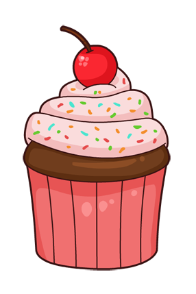 This Nice Cartoon Cupcake Clip Art Is Gr-This nice cartoon cupcake clip art is great for use on whatever project of yours that requires an image of a cupcake. Use this clip art on your personal or ...-19
