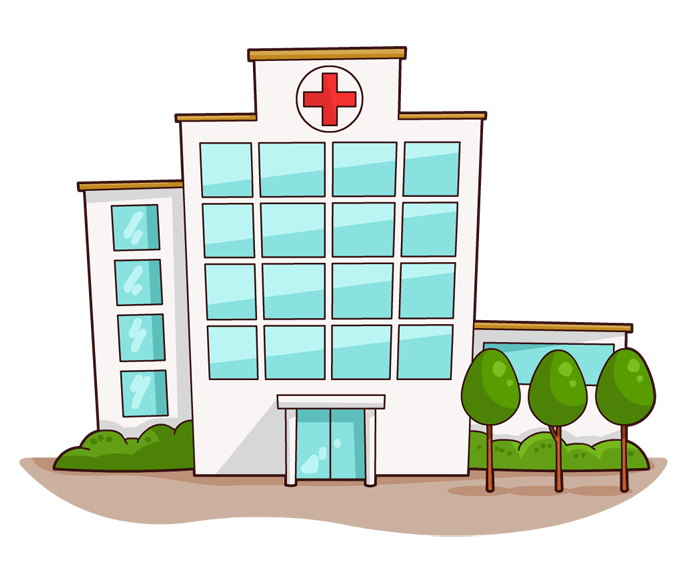 This nice cartoon hospital clip art is free for personal or commercial use. Use this clip art on your book illustrations, medical projects, school projects, ...