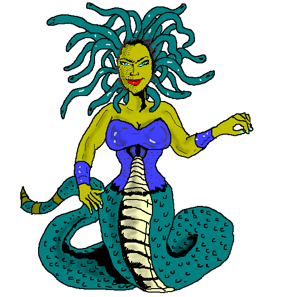 This nice Medusa clip art with hairs and body of a snake is free for commercial or personal use. Use this clip art on your mythical projects, ...