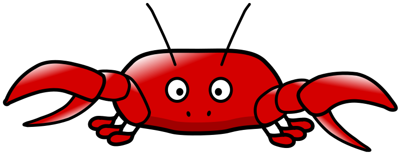 This very cute cartoon crab clip art can-This very cute cartoon crab clip art can be used for your personal or commercial use. Use this cartoon crab clip art on your school projects, comic books, ...-16
