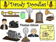 Thomas Edison Clip Art By .-Thomas Edison Clip Art by .-12