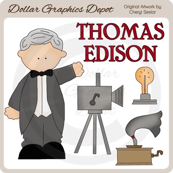 Thomas Edison - Clip Art-Thomas Edison - Clip Art-13