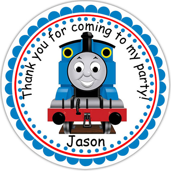 Thomas the Train Personalized Stickers Party by sharenmoments, $6.00