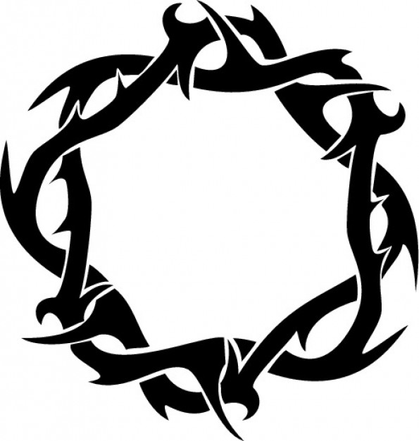 Thorns crown ring clipart top view   Dow-Thorns crown ring clipart top view   Download free Vector ...-7