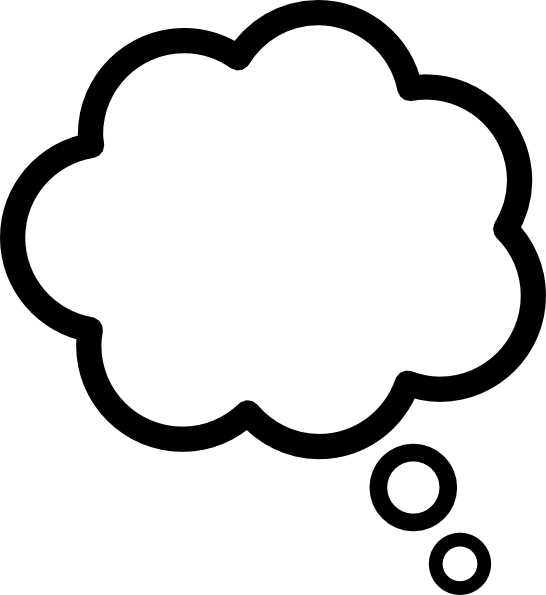 Thought bubble thought cloud clip art at vector clip art