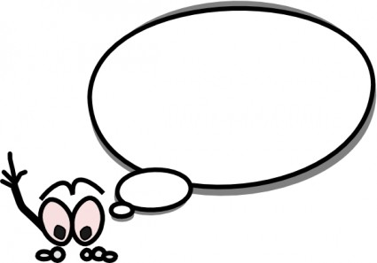 Thought bubble word bubble cartoon speech clip art high quality 5