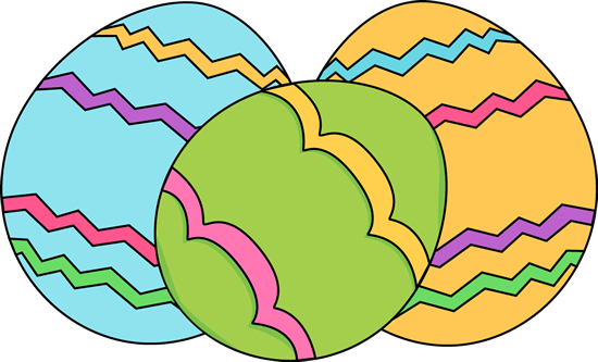 3 Easter Eggs Clipart