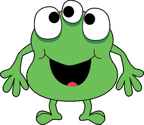 Three-Eyed Green Monster - Clip Art Monsters