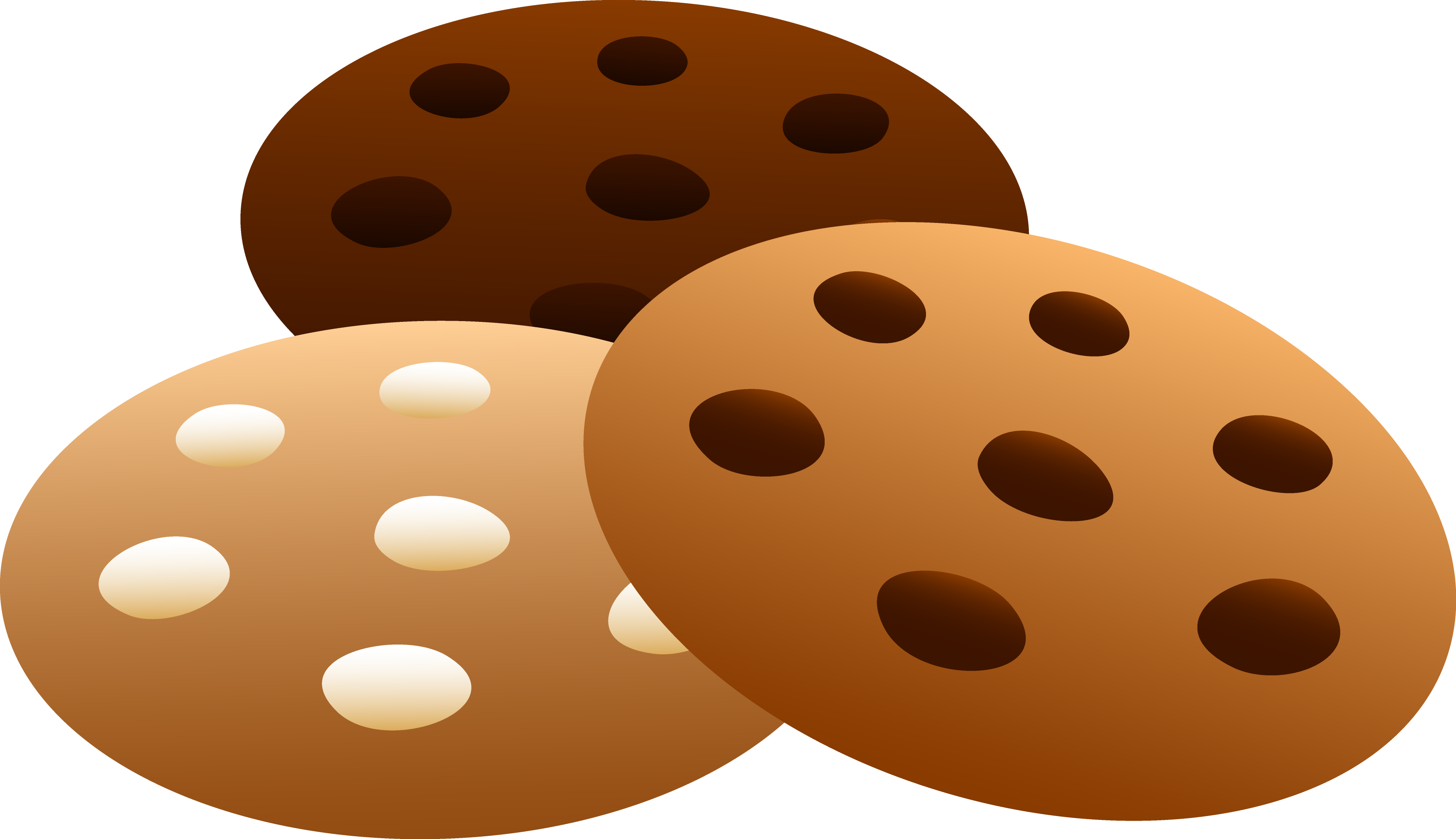 Three Flavors Of Cookies Free - Chocolate Chip Cookies Clipart