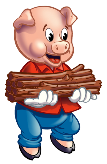 Three Little Pigs Clip Art Cl - Three Little Pigs Clip Art