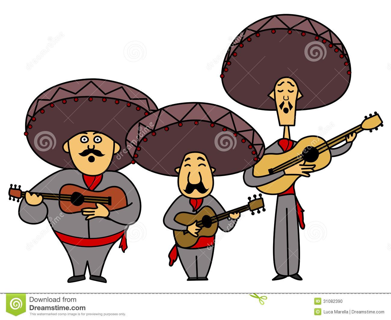 Three Mariachi With Guitars Stock Photo-Three mariachi with guitars Stock Photo-8