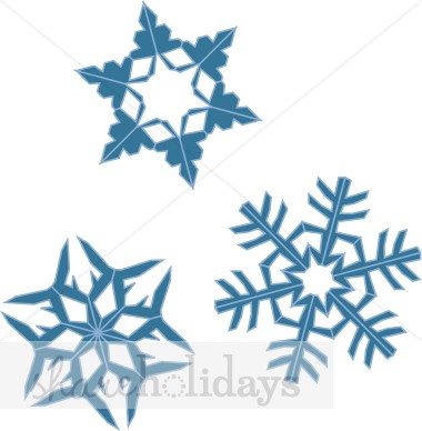 Three Snowflakes Falling