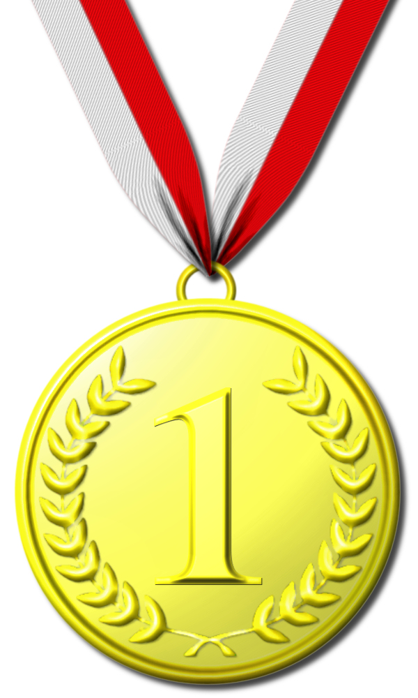 Three Srips Gold Medal Clipart. La Mal D-Three Srips Gold Medal Clipart. La Mal Diction Du Chiffre 1 En ..-18