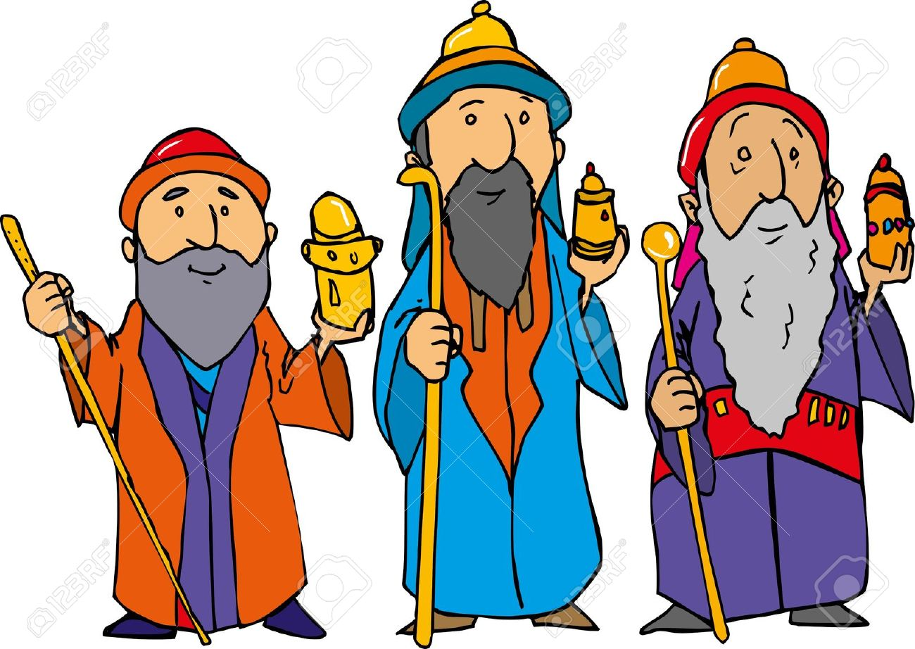 Three Wise Men Clipart. Cartoon of the three wise men .